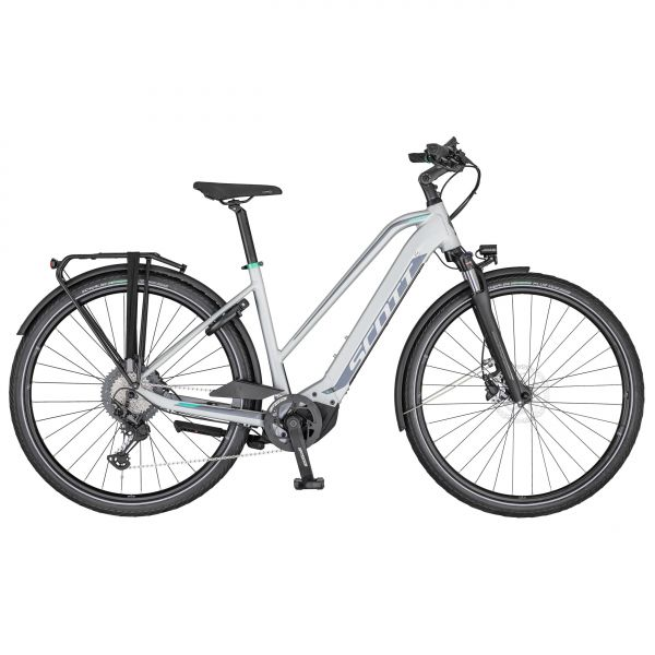 Scott Sub Sport eRIDE 10 Lady pale grey / black / teal blue 2020 - 625Wh 28 -