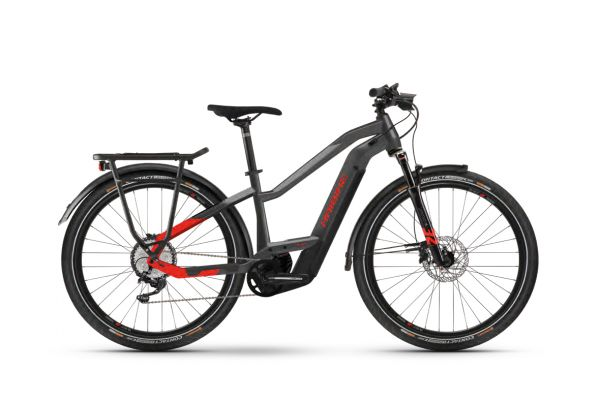 """Haibike TREKKING 9 Anthracite / Red 2021 - 625Wh 27,5"""" LOWSTANDOVER -"""